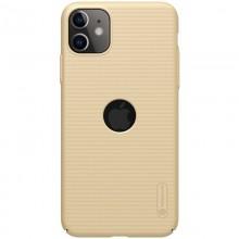 Nillkin Super Frosted Shield - Etui Apple iPhone 11 z wycięciem na logo (Golden)