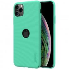 Nillkin Super Frosted Shield - Etui Apple iPhone 11 Pro Max z wycięciem na logo (Mint Green)
