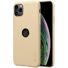 Nillkin Super Frosted Shield - Etui Apple iPhone 11 Pro Max z wycięciem na logo (Golden)
