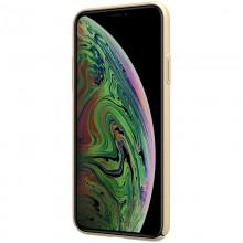 Nillkin Super Frosted Shield - Etui Apple iPhone 11 Pro z wycięciem na logo (Golden)