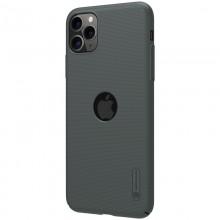 Nillkin Super Frosted Shield - Etui Apple iPhone 11 Pro z wycięciem na logo (Dark Green)