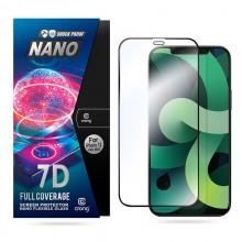 Crong 7D Nano Flexible Glass - Niepękające szkło hybrydowe 9H na cały ekran iPhone 12 Pro Max