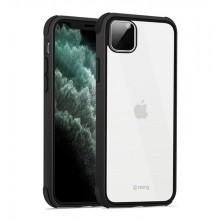 Crong Trace Clear Cover - Etui iPhone 11 Pro Max (czarny/czarny)