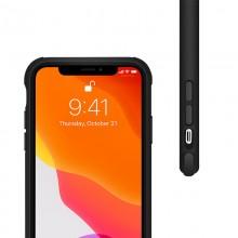 Crong Trace Clear Cover - Etui iPhone 11 Pro (czarny/czarny)