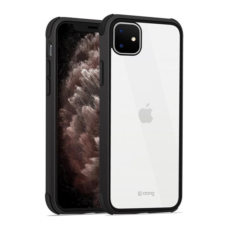 Crong Trace Clear Cover - Etui iPhone 11 (czarny/czarny)