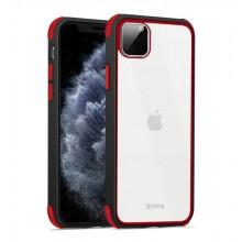 Crong Trace Clear Cover - Etui iPhone 11 Pro (czarny/czerwony)
