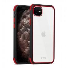 Crong Trace Clear Cover - Etui iPhone 11 (czarny/czerwony)