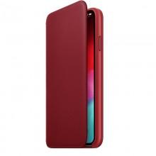 Apple Leather Folio - Skórzane etui iPhone Xs Max z kieszeniami na karty (czerwony) (PRODUCT)RED