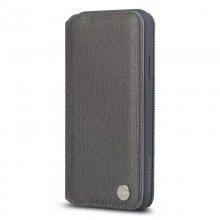 Moshi Overture - Etui iPhone Xs Max z kieszenią na karty + stand up (Herringbone Gray)