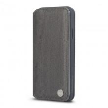 Moshi Overture - Etui iPhone XR z kieszenią na karty + stand up (Herringbone Gray)
