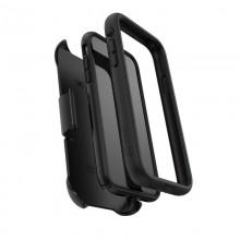 Speck Presidio Ultra - Pancerne etui iPhone XR z uchwytem do paska & podstawka (Black)