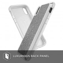 X-Doria Defense Lux - Etui aluminiowe iPhone Xs Max (Drop test 3m) (White Glitter)