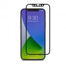 Moshi iVisor AG - Matowa folia ochronna na ekran iPhone 12 / iPhone 12 Pro (czarna ramka)