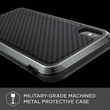 X-Doria Defense Lux - Etui aluminiowe iPhone Xs Max (Drop test 3m) (Black Carbon Fiber)