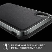 X-Doria Defense Lux - Etui aluminiowe iPhone Xs Max (Drop test 3m) (Black Leather)