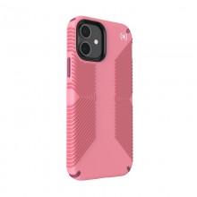 Speck Presidio2 Grip - Etui iPhone 12 / iPhone 12 Pro z powłoką MICROBAN (Vintage Rose/Lush Burgundy)