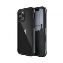 X-Doria Raptic Edge - Etui aluminiowe iPhone 12 / iPhone 12 Pro (Drop test 3m) (Black)