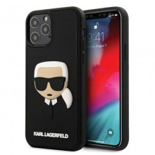 Karl Lagerfeld 3D Rubber Karl's Head - Etui iPhone 12 / iPhone 12 Pro (czarny)