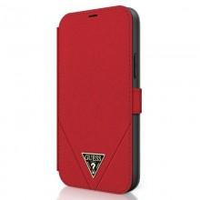 Guess Booktype Saffiano V – Etui iPhone 12 / iPhone 12 Pro (czerwony)
