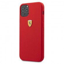Ferrari On Track Silicone – Etui iPhone 12 / iPhone 12 Pro (czerwony)