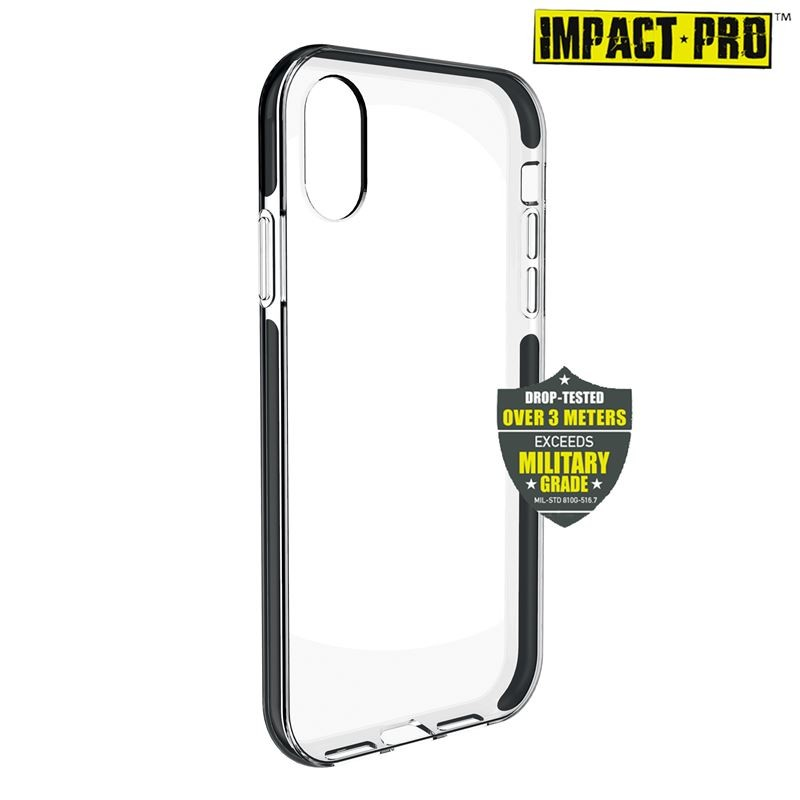 PURO Impact Pro Hard Shield - Etui iPhone XR (czarny)