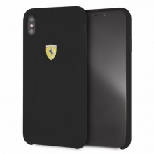 Ferrari Silicone Hard Case - Etui iPhone Xs Max (czarny)