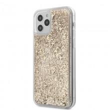 Guess 4G Liquid Glitter - Etui iPhone 12 / iPhone 12 Pro (złoty)