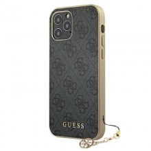 Guess 4G Charms Collection - Etui iPhone 12 / iPhone 12 Pro (szary)