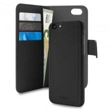 PURO Wallet Detachable - Etui 2w1 iPhone SE 2020 / 8 / 7 / 6s (czarny)