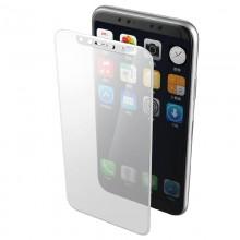 X-Doria Revel Clear - Hartowane szkło ochronne 9H na cały ekran iPhone X (biała ramka)