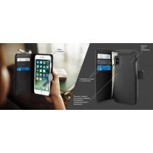 PURO Wallet Detachable - Etui 2w1 iPhone XR (czarny)