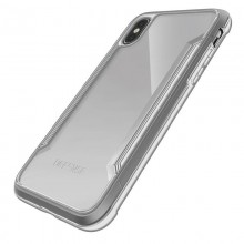 X-Doria Defense Shield - Etui aluminiowe iPhone Xs / X (Drop test 3m) (Silver/Clear)