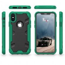 Zizo Proton Case - Pancerne etui iPhone X ze szkłem 9H na ekran (Emerald Green/Solid Black)