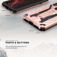 Zizo Static Cover - Pancerne etui iPhone X z podstawką (Rose Gold/Black)