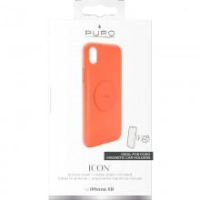 PURO ICON+ Cover - Etui magnetyczne iPhone XR (fluo pomarańczowy)