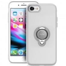 PURO Magnet Ring Cover - Etui iPhone SE 2020 / 8 / 7 z magnetycznym uchwytem na palec (biały)