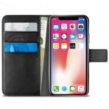 PURO Booklet Wallet Case - Etui iPhone Xs Max z kieszeniami na karty + stand up (czarny)