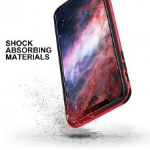 Zizo Fuse Case - Etui iPhone Xs Max + szkło ochronne hartowane na ekran (Red/Black)