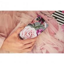 PURO Glam Geo Flowers - Etui iPhone Xs / X (Pink Peonies)