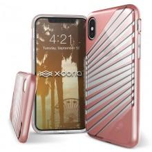 X-Doria Revel Lux - Etui iPhone X (Rose Gold Rays)