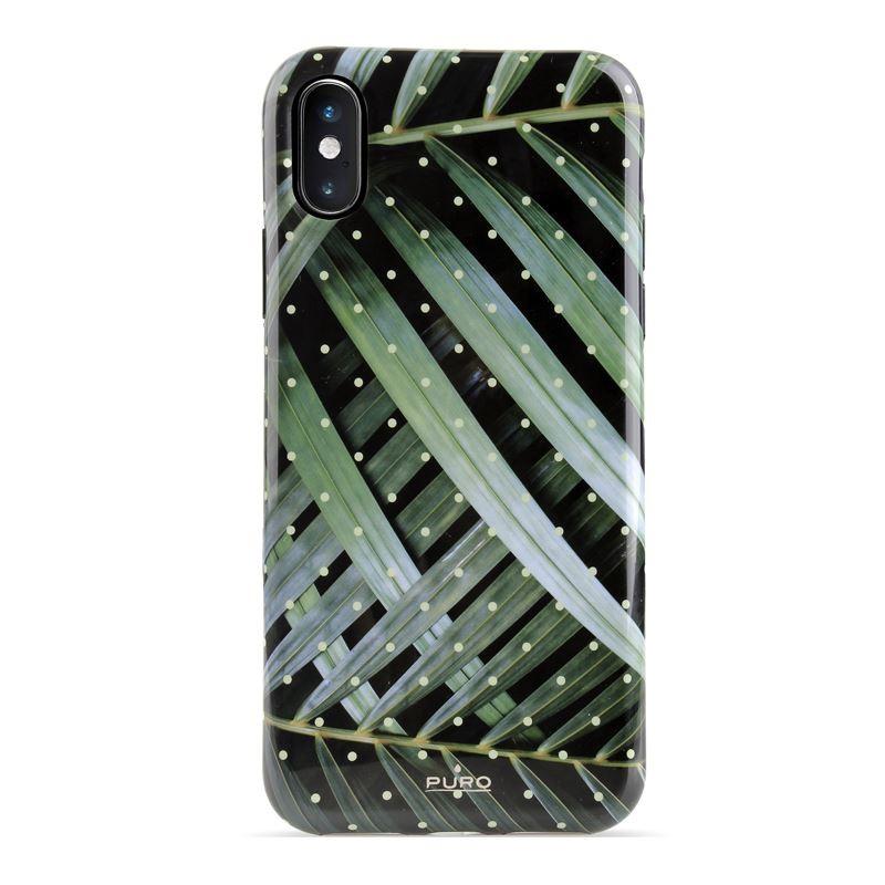 PURO Glam Tropical Leaves - Etui iPhone Xs Max (Brilliant Leaves)