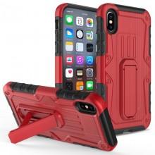 Zizo Heavy Duty Armor Case - Pancerne etui iPhone X z podstawką + uchwyt do paska (Red/Black)