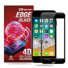 Crong Edge Glass 4D Full Glue - Szkło hartowane na cały ekran iPhone 8 / 7 (czarna ramka)
