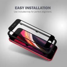 Crong 3D Armour Glass – Szkło hartowane 9H na cały ekran iPhone SE 2020 / 8 / 7 + ramka instalacyjna