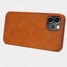 Nillkin Qin Leather Case - Etui Apple iPhone 12 / 12 Pro (Blue)