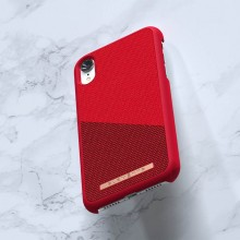 Nordic Elements Saeson Freja - Materiałowe etui iPhone XR (Red)