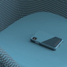 Nordic Elements Saeson Freja - Materiałowe etui iPhone Xs Max (Petrol)