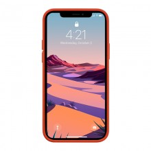 Crong Color Cover - Etui iPhone 12 / iPhone 12 Pro (czerwony)
