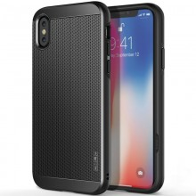 Obliq Slim Meta - Etui iPhone Xs / X (Titanium Black)