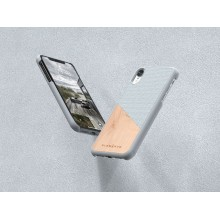 Nordic Elements Original Hel - Drewniane etui iPhone XR (Light Grey)